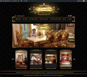 Thiết kế WEB Noi that co dien La xuyen, mẫu thiết kế web đồ gỗ nội thất cổ điển tại Ninh Bình