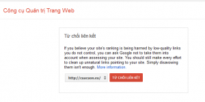 Cách xóa backlink xấu, xóa backlink xấu bằng google webmaster tool