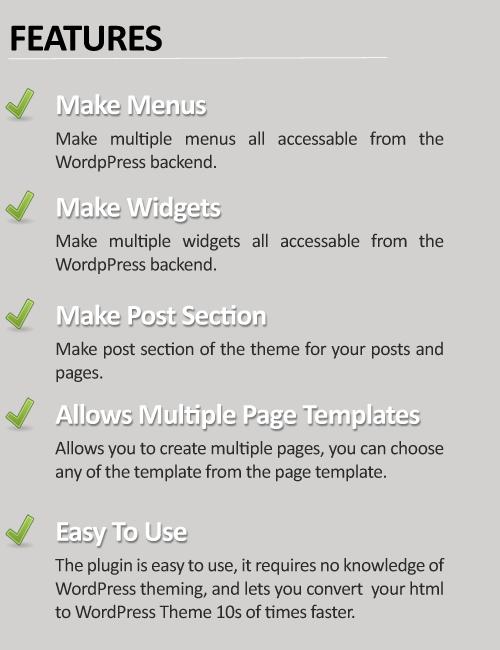 How to use plugin html to wordpress theme