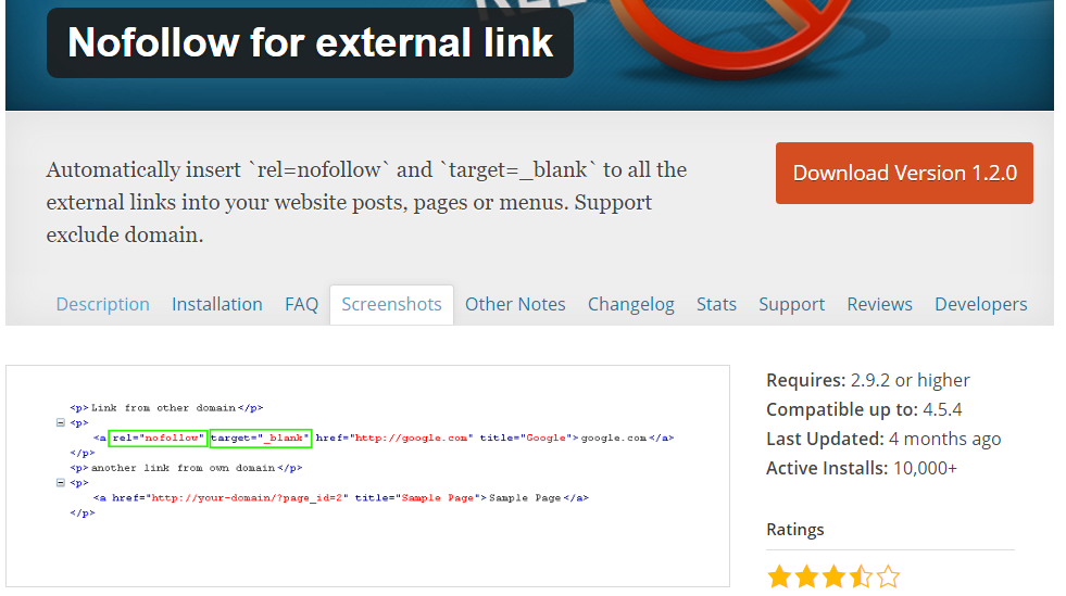 Nofollow-for-external-link