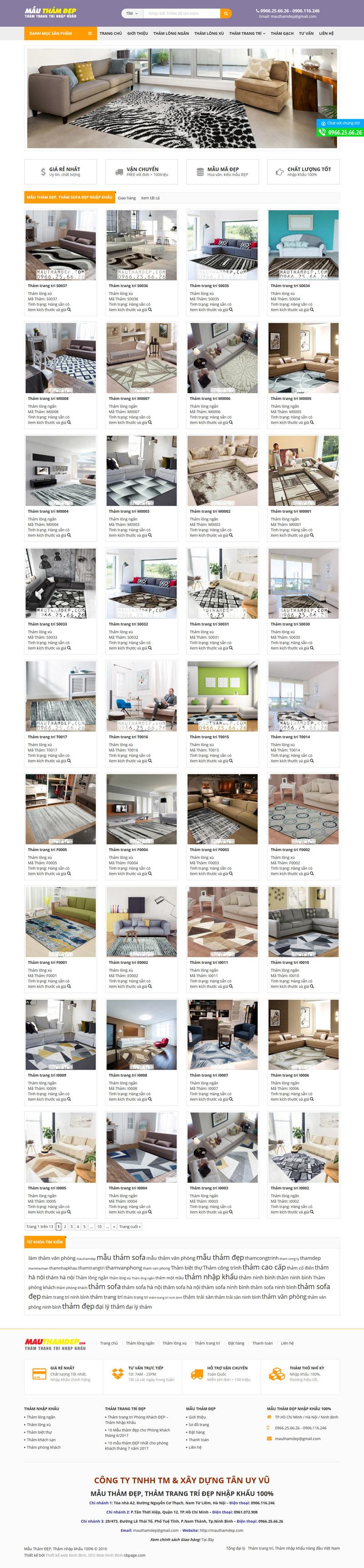Website Mau tham DEP Tham trang tri Tham trai san DEP
