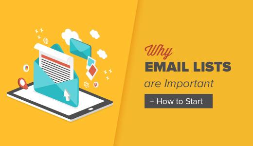 Tại sao xây dựng danh sách Email là điều cần thiết?