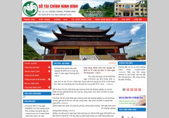 Thiết kế Website Sở tài chính Ninh Bình