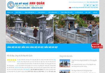 Thiết kế Website Đá mỹ nghệ Anh Quân Ninh Bình