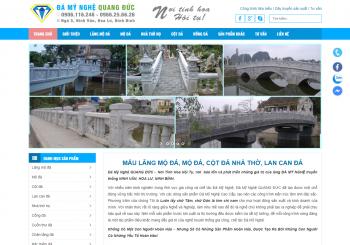Thiết kế website Đá mỹ nghệ Quang Đức
