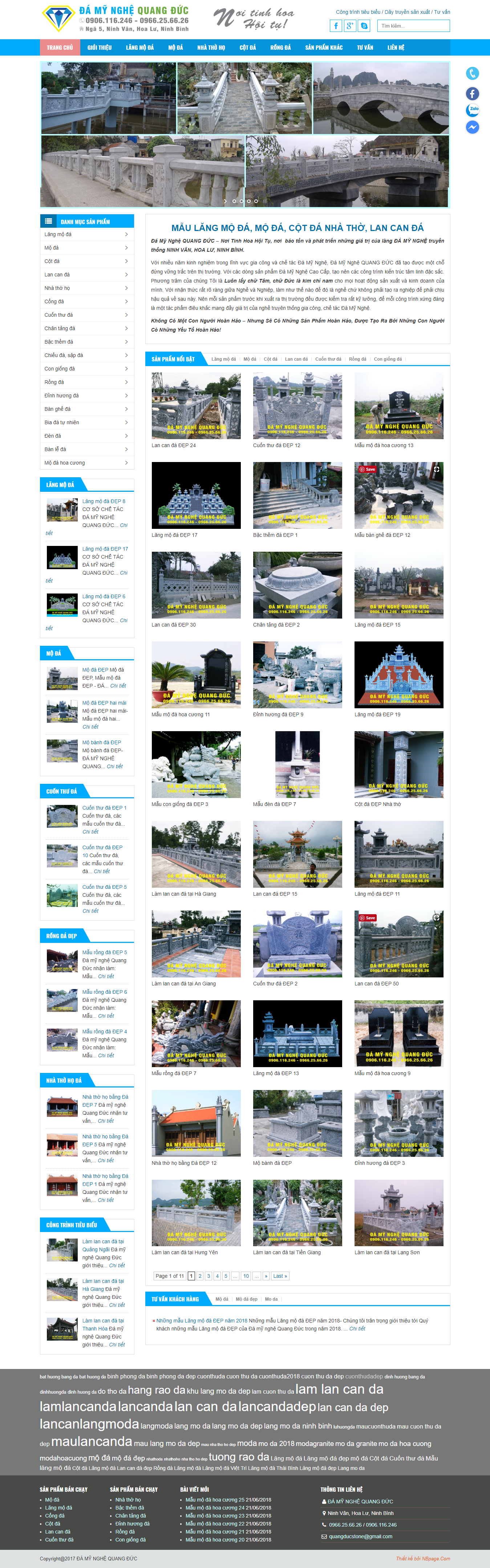 Thiet ke Website Da my nghe Quang Duc