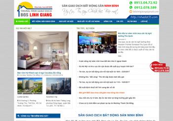 Thiet ke website Bat dong San Linh Giang Ninh Binh