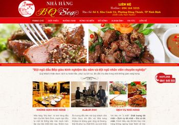 Thiết kế Website, LOGO cho Nhà hàng BQSEA Ninh Bình