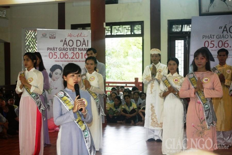 Tổ chức Hội thi nét đẹp áo dài Phật giáo