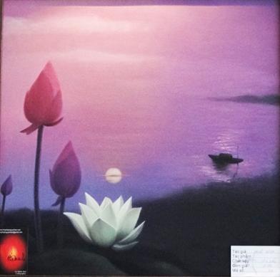 Triển lãm hoa sen ở Nhà văn hóa Thanh Niên