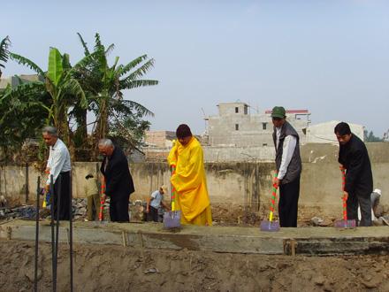 Ninh Bình: Động thổ xây dựng ngôi Tổ đường chùa Yên Vệ (Phúc Hào Tự)