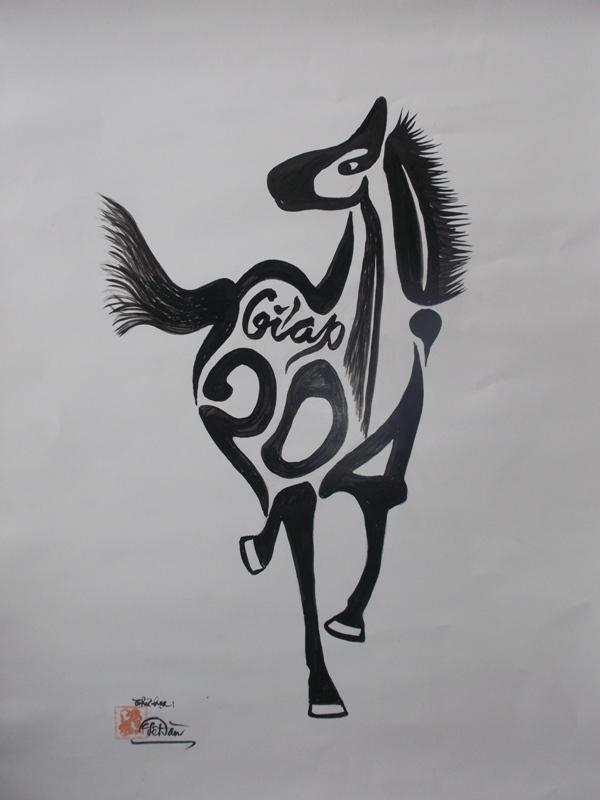 Tôi vẽ ngựa mừng xuân Giáp Ngọ