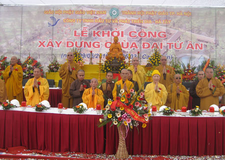 Đầu tư 120 tỷ đồng xây dựng chùa Đại Từ Ân
