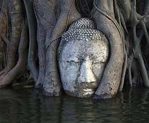 Thái Lan: Các ngôi chùa ở Ayutthaya có nguy cơ sụp đổ do lũ lụt