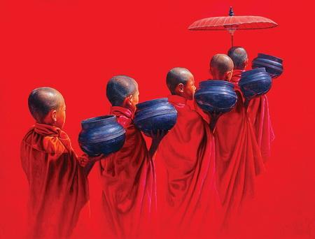 Tranh Myanmar và đề tài Phật giáo