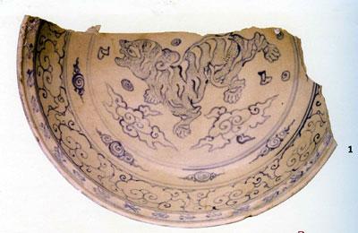 Hình con hổ trên gốm Việt cổ