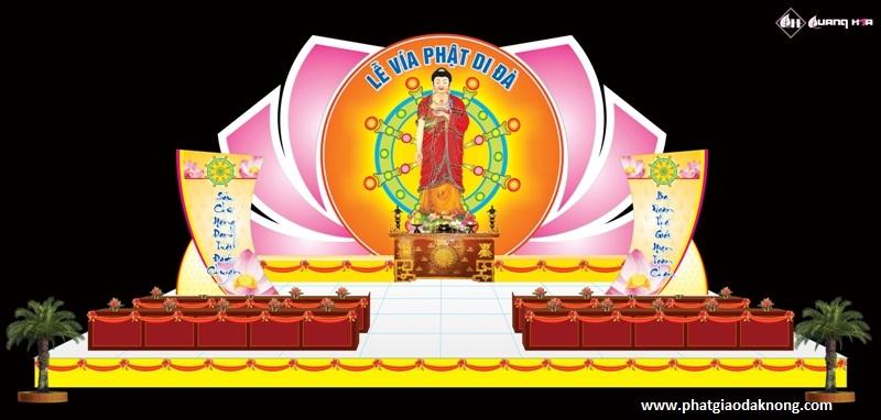 Một số hình mẫu Lễ đài Vía Phật Di Đà