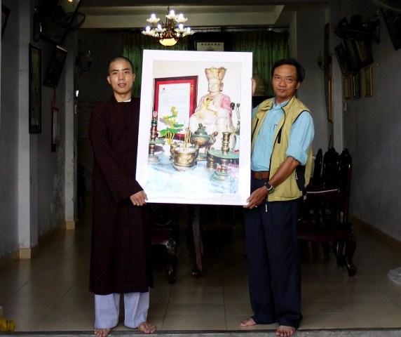 Tặng hình ảnh tượng Phật ngọc chùa Trường Sa