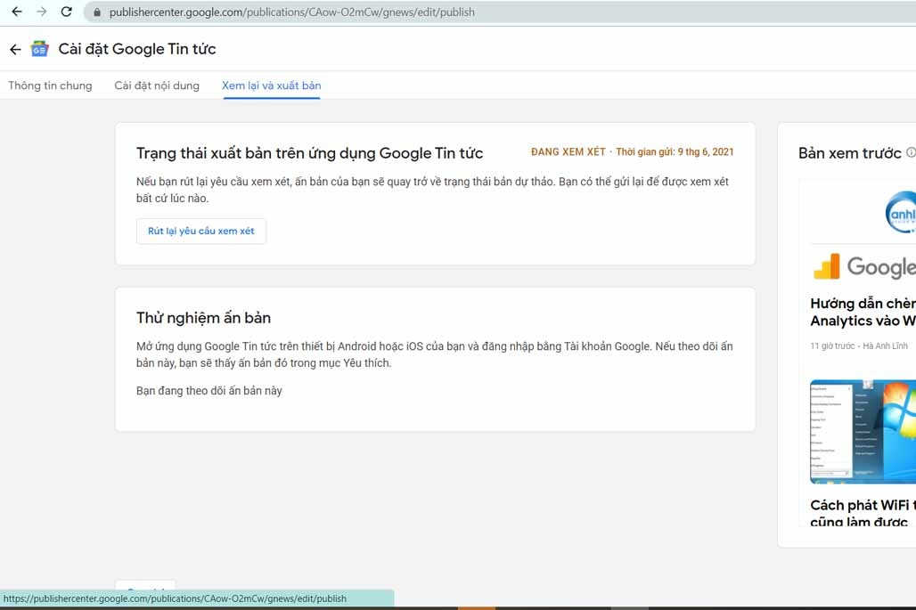 Xuất bản Google News