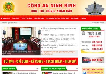 Mẫu website Công an tỉnh Ninh Bình