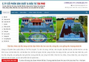 Công ty Đá mỹ nghệ Tài Phú – Ninh Vân Hoa Lư Ninh Bình