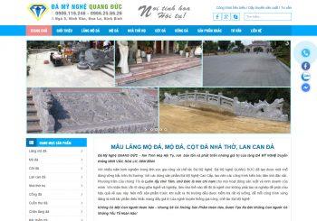 Mau website Mo da- Lang mo da Ninh Binh