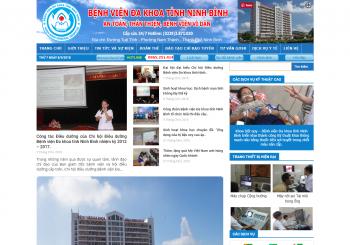 Thiết kế website Bệnh viện Đa khoa 700 giường Ninh Bình
