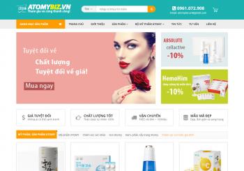 Thiết kế Website bán hàng Mỹ phẩm Hàn Quốc