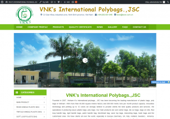 Thiết kế Website Công ty Nhựa Quốc tế VNK's