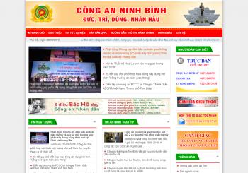 Thiết kế website Công an tỉnh Ninh Bình